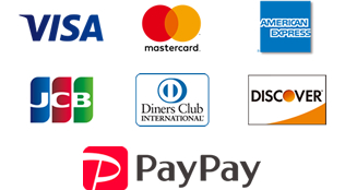 VISA/Master/AMEX/JCB/Diners/Discover/PayPay